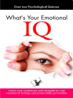 What's your Emotional I.Q.: Assess your weaknesses and strengths in your emotions & feelings and groom fuller personality
