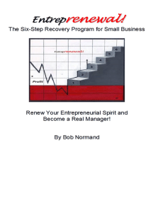 Entreprenewal, The Six Step Recovery Program for Small Business