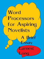 Word Processors for Aspiring Novelists