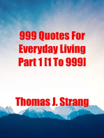 999 Quotes For Everyday Living Part 1 [1 To 999]