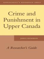 Crime and Punishment in Upper Canada