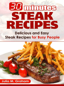 30 Minutes Steak Recipes - Delicious and Easy Steak Recipes for Busy People