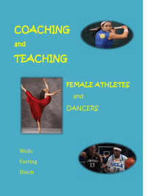 Coaching and Teaching Female Athletes and Dancers