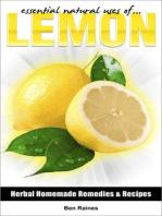 Essential Natural Uses Of....Lemon