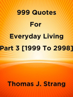 999 Quotes For Everyday Living Part 3 [1999 To 2998]