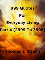 999 Quotes For Everyday Living Part 4 [2999 To 3998]