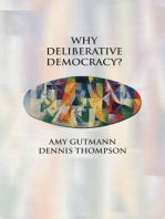 Why Deliberative Democracy?