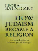 How Judaism Became a Religion