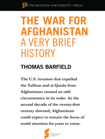 The War for Afghanistan: A Very Brief History: From Afghanistan: A Cultural and Political History
