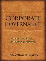 Corporate Governance: Promises Kept, Promises Broken