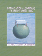 Optimization Algorithms on Matrix Manifolds