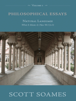 Philosophical Essays, Volume 1