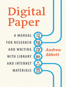 Digital Paper: A Manual for Research and Writing with Library and Internet Materials