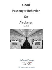 Good Passenger Behavior on Airplanes