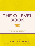 The O Level Book: Genuine Exam Questions From Yesteryear