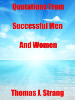 Quotations from Successful Men and Women