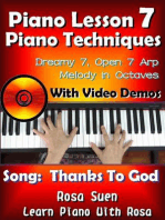 """Piano Lesson #7 - Piano Techniques - Dreamy 7, Open 7 Arp, Melody in Octaves with Video Demos to the Gospel Song """"Thanks to God"""": Learn Piano With Rosa"""