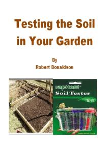 Testing the Soil in Your Garden