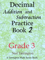 Decimal Addition and Subtraction Practice Book 2, Grade 3