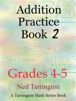 Addition Practice Book 2, Grades 4-5