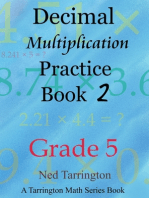 Decimal Multiplication Practice Book 2, Grade 5