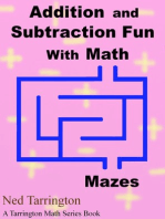 Addition and Subtraction Fun With Math Mazes