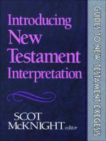 Introducing New Testament Interpretation (Guides to New Testament Exegesis)
