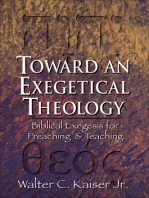 Toward an Exegetical Theology