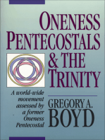 Oneness Pentecostals and the Trinity