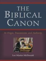The Biblical Canon