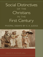 Social Distinctives of the Christians in the First Century