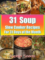 31 Soup Slow Cooker Recipes - For 31 Days of the Month