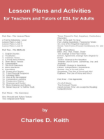 Lesson Plans and Activities for Teachers and Tutors of ESL for Adults