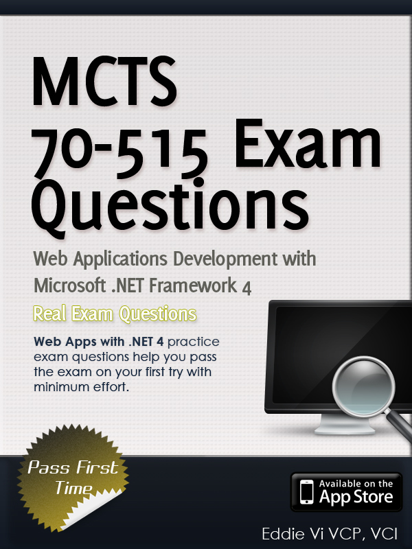 Mcts 70 515 Exam Web Applications Development With Microsoft