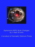 Ephemeris RPG Rule Changes