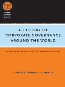 A History of Corporate Governance around the World: Family Business Groups to Professional Managers