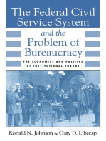 The Federal Civil Service System and the Problem of Bureaucracy