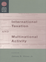 International Taxation and Multinational Activity