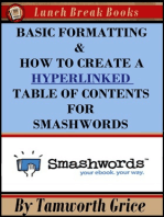 Basic Formatting & How to Create a Hyperlinked Table of Contents for Smashwords