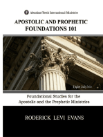Apostolic and Prophetic Foundations 101