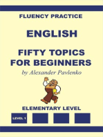 English, Fifty Topics for Beginners, Elementary Level