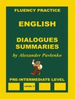 English, Dialogues, Summaries, Pre-Intermediate Level