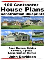 100 Contractor House Plans Construction Blueprints