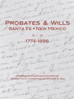 Probates & Wills Santa Fe, New Mexico, 1774-1896