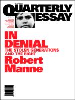 Quarterly Essay 1 In Denial