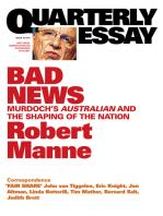 Quarterly Essay 43 Bad News