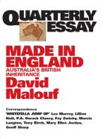 Quarterly Essay 12 Made in England