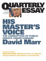 Quarterly Essay 26 His Master's Voice
