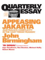 Quarterly Essay 2 Appeasing Jakarta