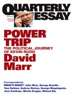 Quarterly Essay 38 Power Trip